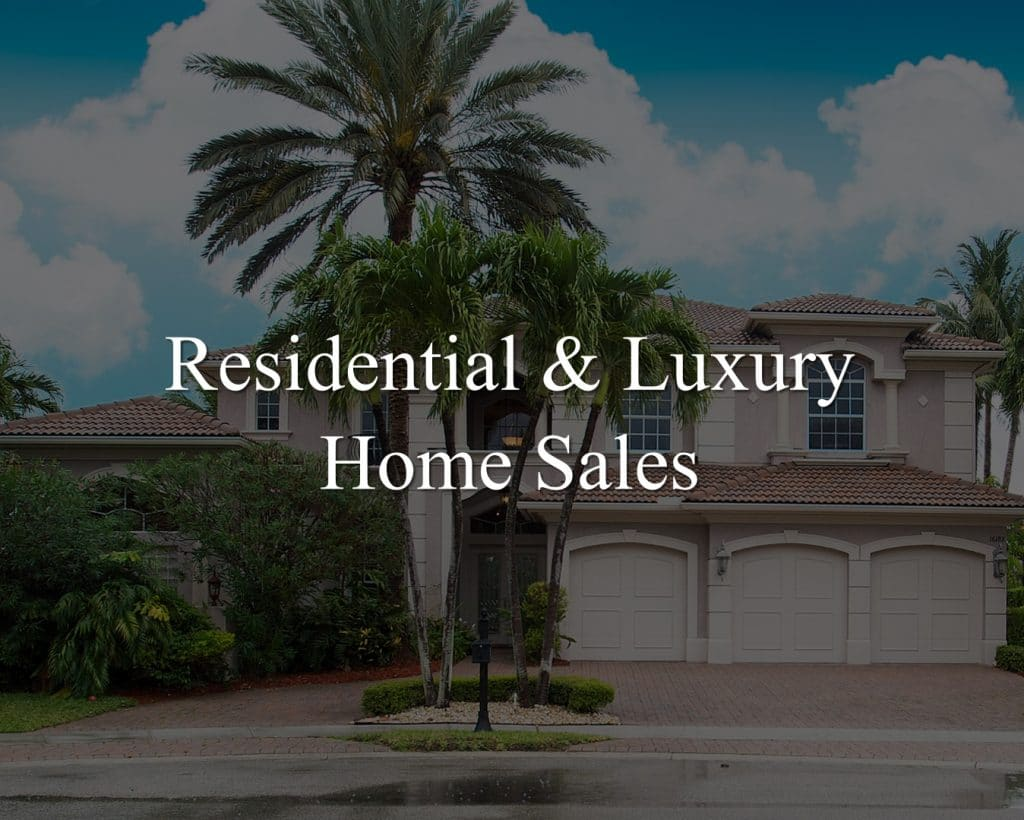 residential and luxury home sales headline